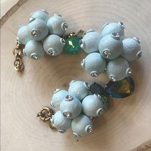 🔥JCrew BabyBlue ClusterBall Rhinestone Bracelet